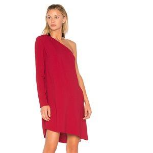 NEW Theory Rosina Sintsi Dress crimson red mini